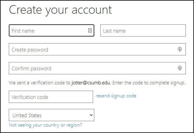 Create your Office 365 account